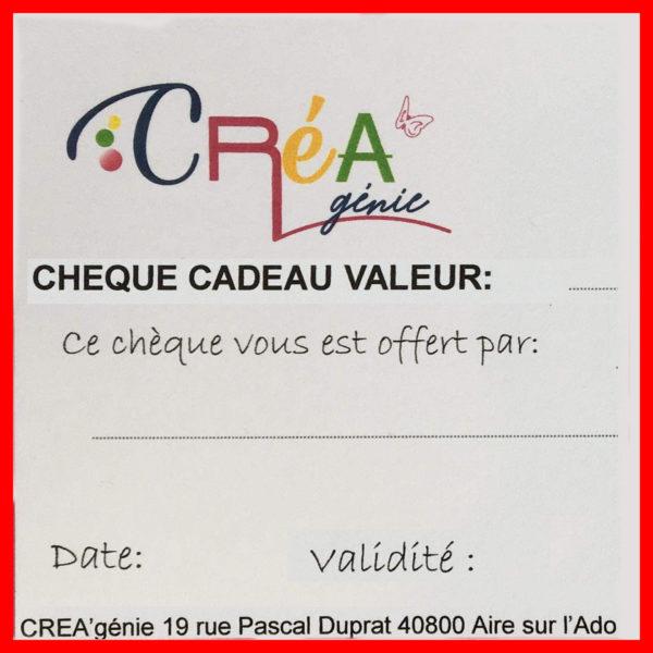 Chèque cadeau Créagénie